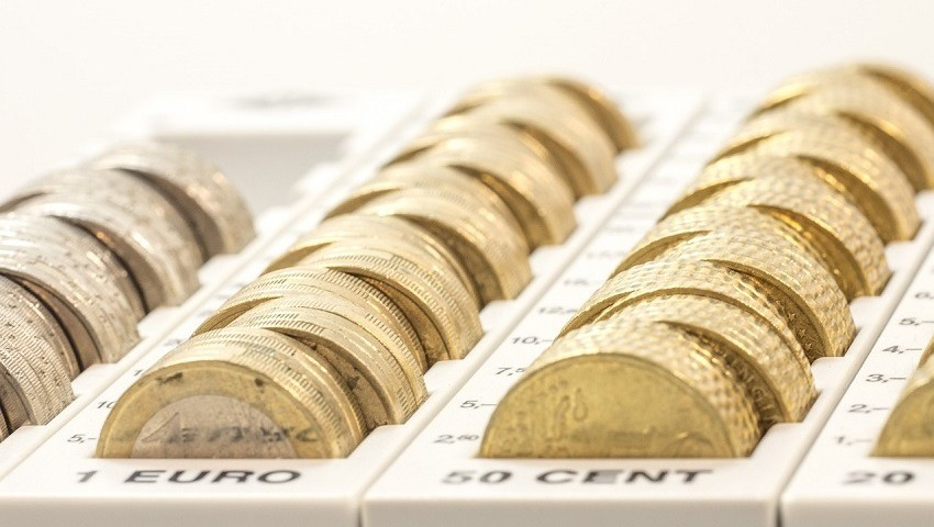 Wechselgeld in der Kasse